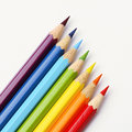 Rainbow pencils Royalty Free Stock Photo