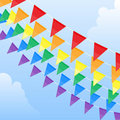 Rainbow pennants Royalty Free Stock Photography