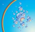 Rainbow phial. Royalty Free Stock Photos