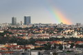 Rainbow in Prague Stock Photos