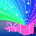 Rainbow present Royalty Free Stock Photo