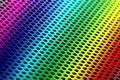 Rainbow Pressed Metal Royalty Free Stock Photos