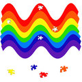 Rainbow puzzle Royalty Free Stock Photos