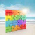 Rainbow puzzle concept