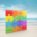 Rainbow puzzle concept Royalty Free Stock Image