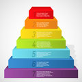 Rainbow pyramid with numbers Royalty Free Stock Photos