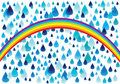 Rainbow and rain drops Royalty Free Stock Photo