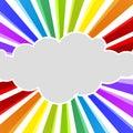 Rainbow Rays Cloud Greeting Card