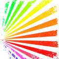 Rainbow rays illustration of colorful on a grunge background Stock Photos