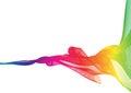 Rainbow Ribbon Abstract Shapes...