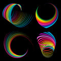 Rainbow ribbons Royalty Free Stock Photography