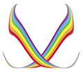 Rainbow Ribbons Stock Images