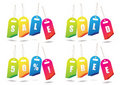 Rainbow sale tags Stock Images