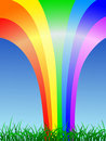 Rainbow shape Stock Images