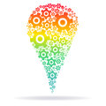 Rainbow silhouette of the  cog gears Royalty Free Stock Photo