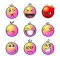 Rainbow smileys | Set 1 Royalty Free Stock Photos