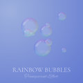 Rainbow soap bubbles in realistic vector style