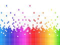 Rainbow soundwaves background shows music songs and artists showing Royalty Free Stock Image