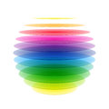 Rainbow sphere Royalty Free Stock Photography
