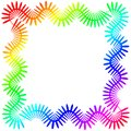 Rainbow Spikes Square Frame Border