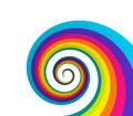 Rainbow spiral Stock Photos
