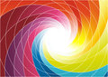 Rainbow spiral bright colorful background clip art Royalty Free Stock Image
