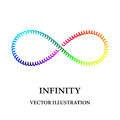 Rainbow spiral like infinity symbol consisted of simple elements Royalty Free Stock Photo