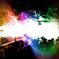 Rainbow Splatter Layout Stock Photo