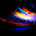 Rainbow Splatter Layout Royalty Free Stock Photo