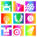 Rainbow sports Stock Photos