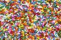 Rainbow sprinkles are yummy on deserts or ice cream Stock Photo