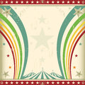 Rainbow square circus invitation. Royalty Free Stock Photography