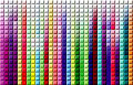 Rainbow squared background abstract with tiles effects Stock Images