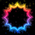 Rainbow Star Border with Sparkles Stock Images