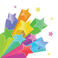 Rainbow stars Stock Image