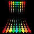 Rainbow stars Royalty Free Stock Images