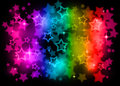 Rainbow stars on a background Royalty Free Stock Photos