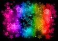 Rainbow stars Royalty Free Stock Photo