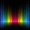 Rainbow stripe dark background Royalty Free Stock Photo