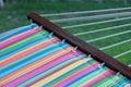 Rainbow Striped Hammock Royalty Free Stock Photo