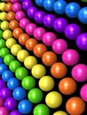 Rainbow style ball Royalty Free Stock Photo