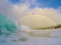 Rainbow Surfing Royalty Free Stock Photo