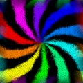 Rainbow swirl graffiti mosaic generated texture Royalty Free Stock Photo