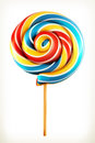 Rainbow swirl lollipop Royalty Free Stock Photo