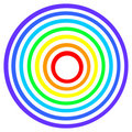 Rainbow target Stock Photo