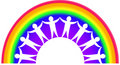 Rainbow Teamwork Stock Photography