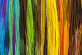 Rainbow textiles background an colored exposed for sale in bazaar Stock Photography