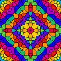 Rainbow Tile Kaleidoscope Royalty Free Stock Photography