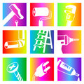 Rainbow tools Royalty Free Stock Photos
