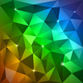 Rainbow triangles background vector abstract pattern Stock Photo